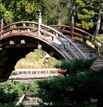 Bridge in Japanese Garden, Huntington Library.